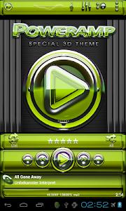 Poweramp skin Lime Glas deluxe v1.33