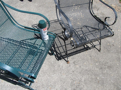 Spray Paint Wrought Iron Patio Chair