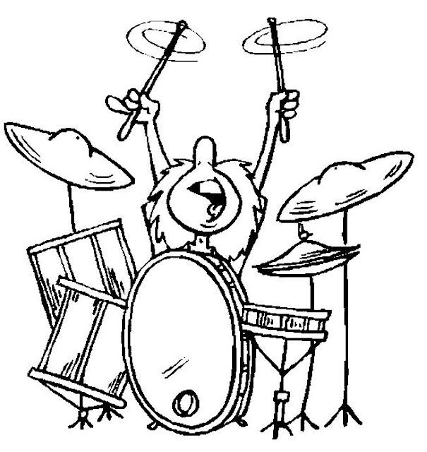 Instrumentos De Percusion Para Colorear