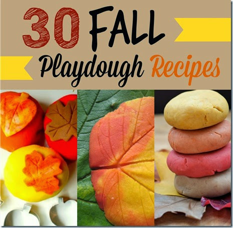 30 Fall Playdough Recipes - So many super creative, fun, and unique fall play dough recipes. Great for sensory play for toddler, preschool, and kindergarten age kids. (kids activities)