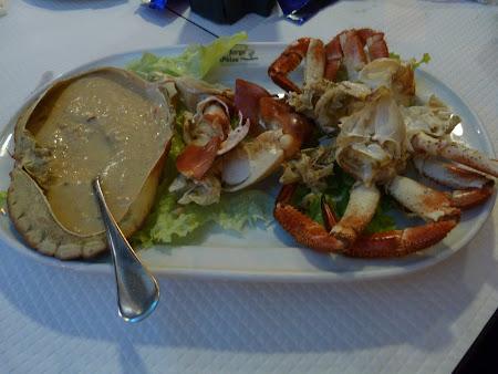 Fructe de mare Algarve:  Crabi la cina
