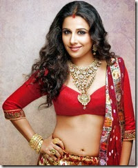 Vidya Balan Red Hot Navel Photoshoot From Hi BLITZ Magazine October 2013