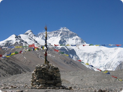 Everest w prayer flags