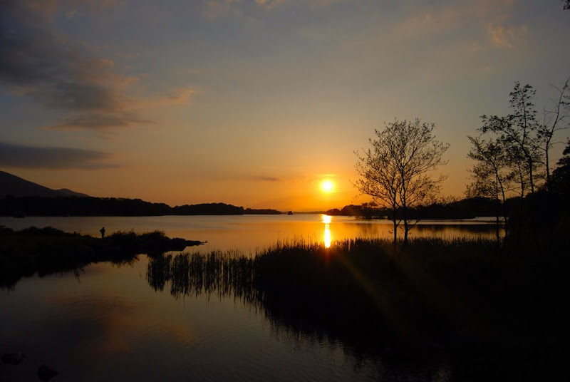 Summer Sunset over Lough Leane-Ross Castle Killarney-Eileen Guckian.JPG