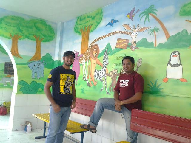 PRE SCHOOL CLASSROOM WALL PAINTING / THANA / MULUND / GHATKOPER