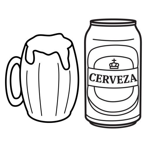 Colorear Jarras De Cerveza