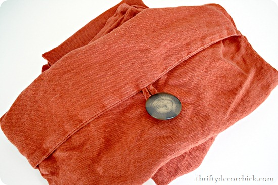 rust pottery barn pillow covers