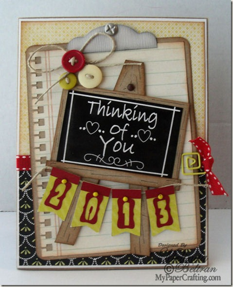 thinking of you chalkboard card-475