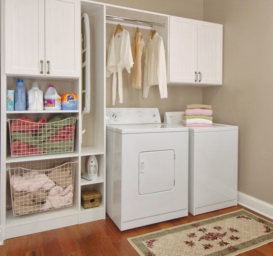 Laundry room storage casual cottage - Laundry room cabinet ideas ...
