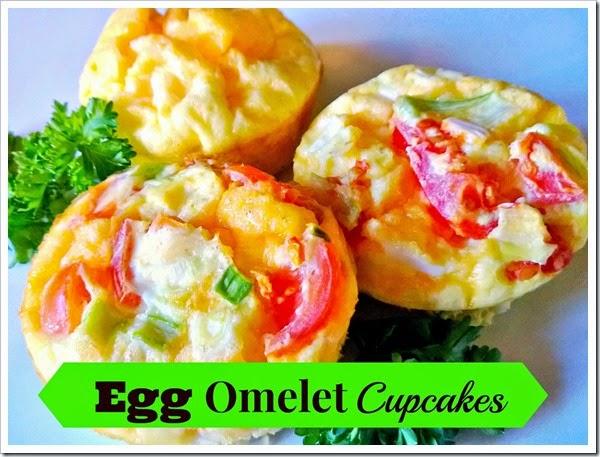 egg omelet cupcakes