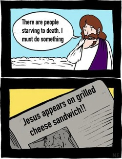 Where is jesus when people starve?