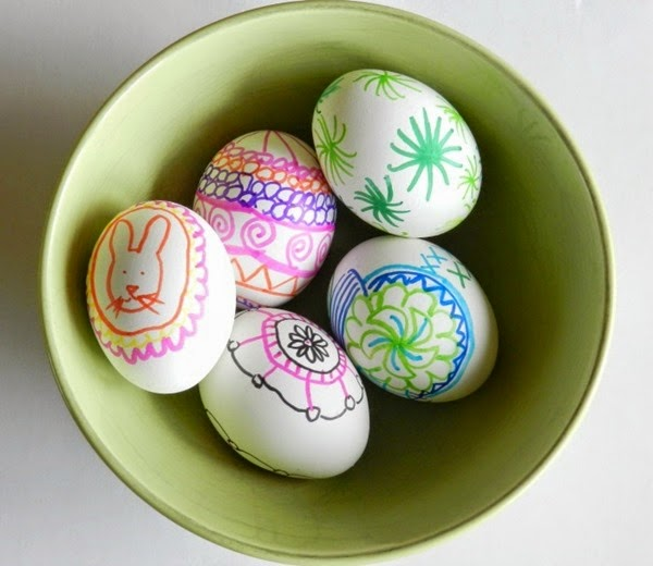 Marker Decorated Easter Eggs from Grow Creative
