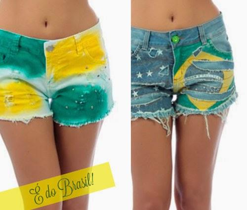 Ideias para customizar short jeans para Copa do Mundo Brasil
