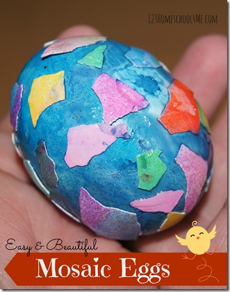 Decorating Easter Eggs: mosaic eggs