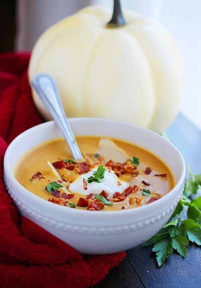 Creamy Pumpkin Soup | Thanksgiving Recipes For Everyone At The Dinner Table | Thanksgiving Recipes | easy thanksgiving recipes