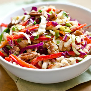 Southern-Style Slaw with Pecans and Maple-Dijon Vinaigrette.