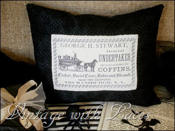Black and White Halloween Pillow