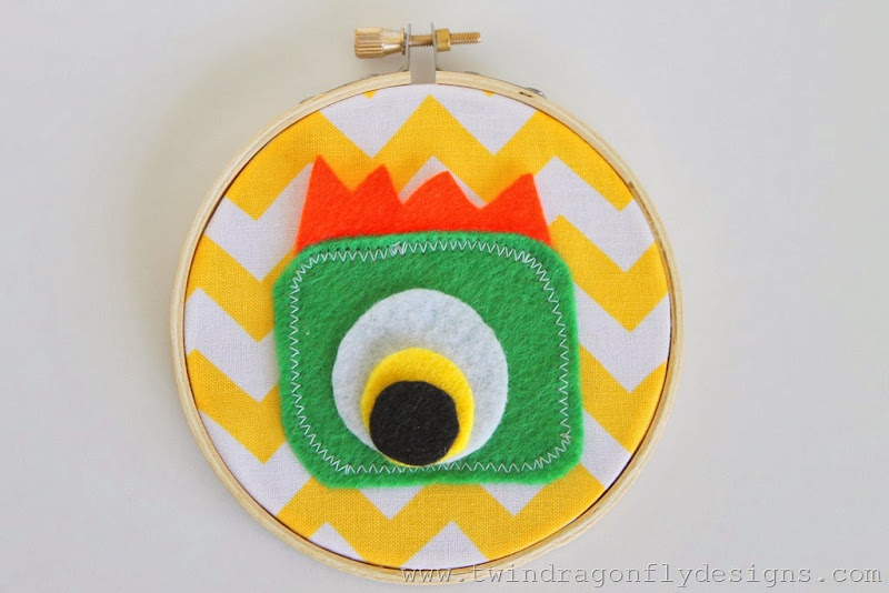 Monster Embroidery Hoop (17)