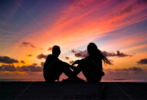 Sunset Lover Couples People Pixoto