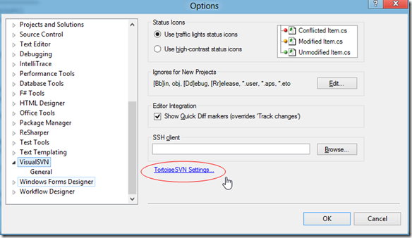 iSparc Blog: Integrating WinMerge With Visual Studio 2012