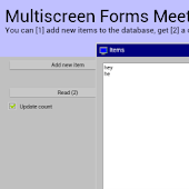 Multiscreen Forms Example