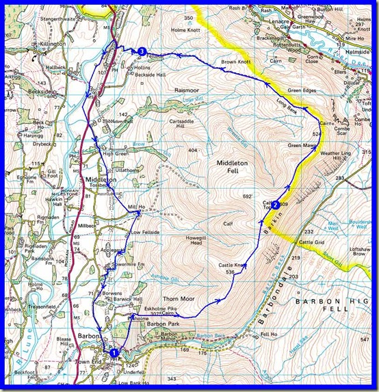 Our route: 22 km, 650 metres ascent, taking 6.5 hours