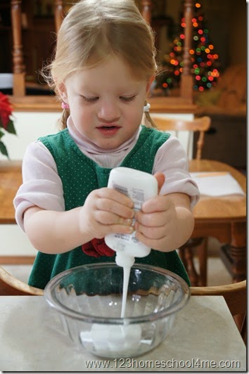 2 ingredient puffy paint recipe for christmas crafts for kids