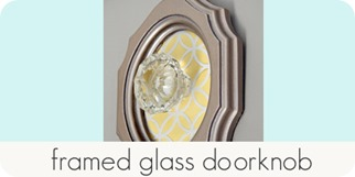 framed glass doorknob