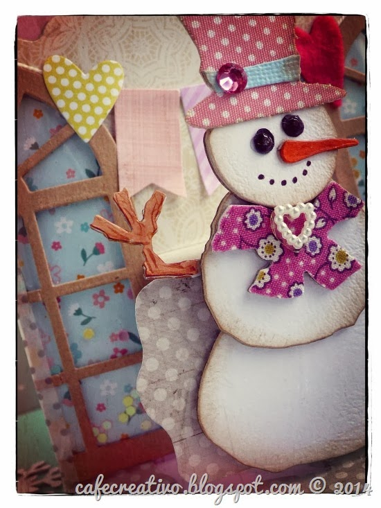 cafe creativo - sizzix big shot - winter card pop up