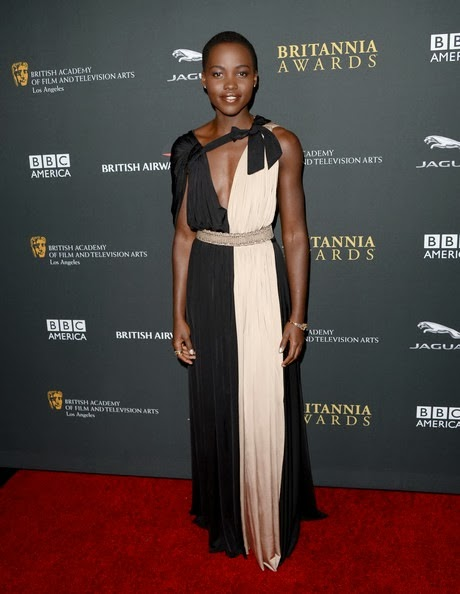 Lupita Nyong'o attends the 2013 BAFTA LA Jaguar Britannia Awards