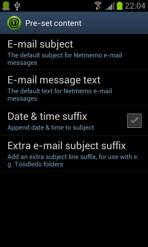 Netmemo Voice Recorder for GTD - screenshot