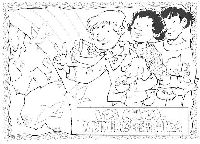 Dibujos De Las Misiones: EL MUNDO DE LOS NIÑOS SOLIDARIOS DIBUJOS PARA PINTAR