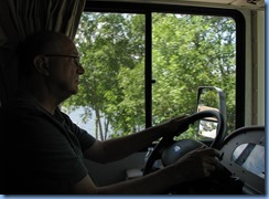 7098 Hwy 534 - Bill driving alongside Restoule Lake