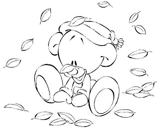 Dibujos Colorear Otono Infantil: DIBUJOS PARA COLOREAR EL OTOÑO