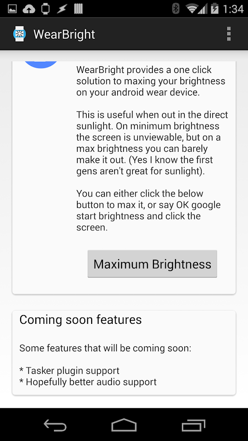 WearBright - screenshot