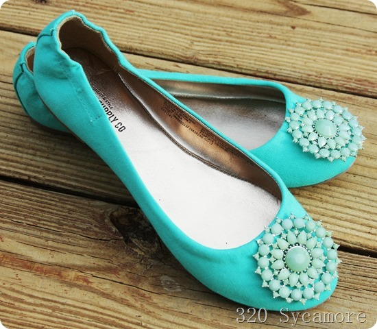 diy blinged shoes
