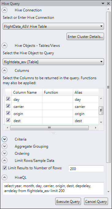 Visualize Hive Data Sources in Hadoop on Azure Using Excel