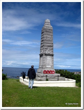 Findochty War memorial above the harbour with 5 families named far too many times.