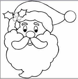Moldes De Papa Noel Para Colorear - Papa-noel-para-imprimir