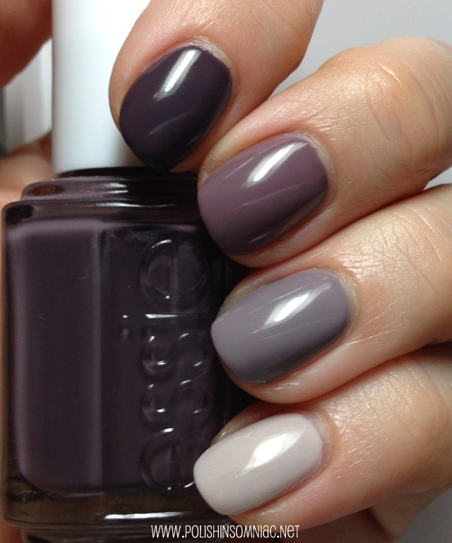 Polish Insomniac An Essie Ombre Smokin Hot Merino Cool Chinchilly And Body Language