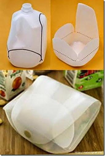 Cajas y fiambreras hechas con botellas de plástico eciclamos