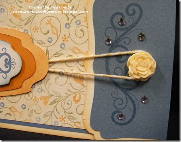 Florentine Swap by Lisa Combs die cut card close up
