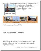 American Landmarks: Bridges Worksheet - FREE Printable from Living Life Intentionally