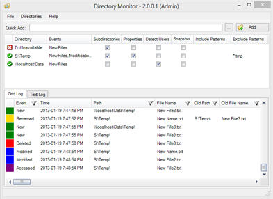 Monitor File and Directory Changes