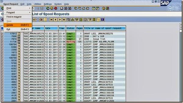 Spool Administration (SP01) | Full SAP BASIS