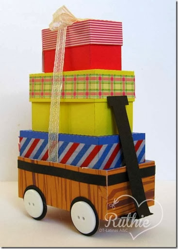 Red Box Wagon - The Cutting Cafe - Nueva Aventura -  Latinas Arts and Crafts - Ruthie Lopez DT 1