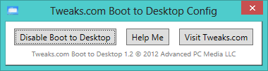 Boot to desktop