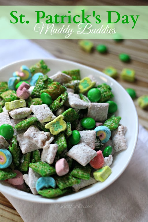 st patricks day muddy buddies
