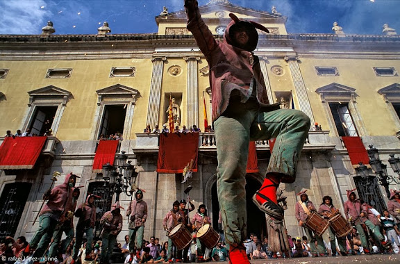 Ball de Diables de Tarragona. Lectura dels versots.Festes de Santa Tecla. Tarragona, Tarragonès, Tarragona