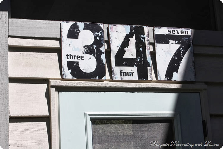 vintage-look house numbers